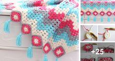 Manta o Afgano Primavera en Crochet con paso a paso grátis ⋆ Manualidades Y DIYManualidades Y DIY Crochet Earrings, Blanket, Holiday Decor, Crafts, Handmade, Crocheting Patterns, Diy And Crafts, Bedspreads, Crochet Blankets
