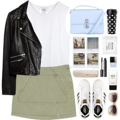 A fashion look from May 2015 featuring ripped shirt, biker jackets and Marc by Marc Jacobs. Browse and shop related looks. Cozy Fashion, Unique Fashion, Coco Chanel, Polyvore Outfits, Polyvore Fashion, Matching Outfits, Cute Outfits, Summer Outfits For Teens, Outfit Combinations