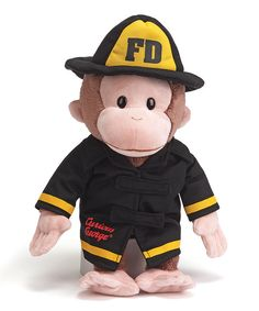 Look at this GUND Curious George Firefighter Plush Toy on #zulily today!