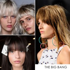 Biggest Hair Trends For Spring 2016   The Zoe Report - Bangs are going to be huge this fall and as seen on the most recent runways, the fringe movement is here to stay until next year. Opt for a shaggy cut or try something blunt and polished.