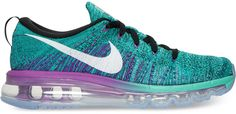 Nike Women's Flyknit Air Max Running Sneakers from Finish Line $225 https://api.shopstyle.com/action/apiVisitRetailer?id=540465069&pid=uid2500-35914550-56