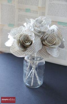 DIY Book Page Flower Tutorial