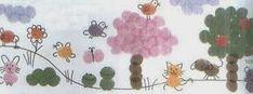 Os dejo una segunda entrada de ideas para trabajar la primavera con las huellas dactilares, son más de 40 ideas de flores y animales, esper...