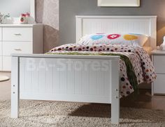 Bungalow Panel Bed in White by Acme Furniture