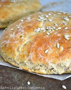 Kanelia ja kardemummaa: Auringonkukkaleipä Finnish Recipes, Savory Pastry, Bread Board, Daily Bread, Sweet And Salty, Bread Baking, Baked Goods, Food To Make, Cake Recipes