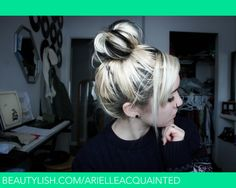 Two Toned Messy Top Bun | arielle a.'s (arielleacquainted) Photo | Beautylish