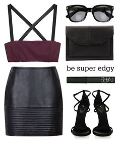 """""""- Black ft. Purple"""" by blondewithniall ❤ liked on Polyvore featuring Zero + Maria Cornejo, John Lewis, Tom Ford, NARS Cosmetics and Giuseppe Zanotti"""