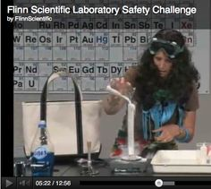 School like departments working together - a good opportunity to get the drama department involved! Very funny FREE lab safety video from Flinn Scientific of what NOT to do! Your students will have a blast trying to see who can find the most mistakes! Chemistry Classroom, High School Chemistry, High School Biology, Teaching Chemistry, Chemistry Labs, Science Chemistry, Middle School Science, Stem Teaching, Teaching Resources