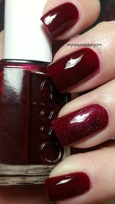 Essie Bordeaux with China Glaze Crystal Ball