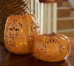 Ceramic pumpkin cut out ideas