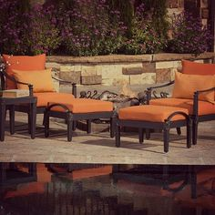Could you see yourself lounging in year-round comfort? #Furniture #Outdoors #Patio
