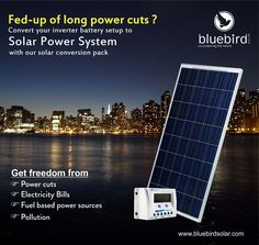 Bluebird Solar is one of the best Solar PV Module manufacturers in India. We also specialize in providing Rooftop solar power plants, Solar EPC Services and other solar power solutions like solar inverters, batteries and solar water pumps. Solar Panel Manufacturers, Solar Water Pump, Solar Inverter, Electricity Bill, Solar Power System, Solar Energy, Solar Panels, Blue Bird, Rooftop