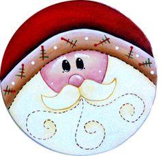 santa's mogollas Painted Christmas Ornaments, Christmas Wood, Christmas Images, Country Christmas, Christmas Projects, Holiday Crafts, Christmas Holidays, Christmas Decorations, Christmas Clipart