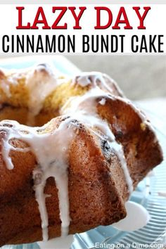 You have to try this delicious Lazy Day Cinnamon Bundt Cake Recipe. This Cinnamon Swirl Cake is simple and easy to make. It's perfect for any occasion! Cinnamon Bundt Cake Recipe, Cinnamon Swirl Cake, Pound Cake Recipes, Easy Cake Recipes, Dessert Recipes, Dinner Recipes, Easy Desserts, Dinner Ideas, Breakfast Recipes