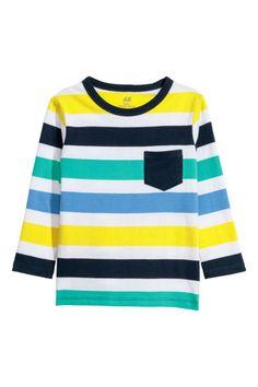 Long-sleeved T-shirt - White/Striped - Kids | H&M 1