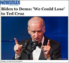 Joe Biden in Panic:  Democrats Could Lose to Ted Cruz  In an email obtained by Newsmax, Vice President Joe Biden warns his supporters that Democrats could lose to Ted Cruz in the ongoing 2014 Midterm Elections.