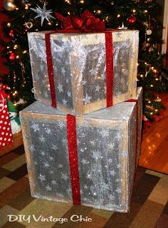 christmas presents outdoor lighted christmas presents, crafts, seasonal holiday d cor, Wrap the boxes with mesh ribbon and bows Christmas Yard, Noel Christmas, Christmas Projects, All Things Christmas, Holiday Crafts, Christmas Ornaments, Holiday Decor, Diy Outdoor Christmas Decorations, Office Christmas