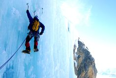 Ice climbing can be