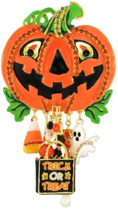 Jack O' Lantern Pin: Lunch at The Ritz 2GO USA: Jewelry