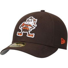 Men's New Era Brown Cleveland Browns Omaha Low Profile 59FIFTY Hat - Brownie