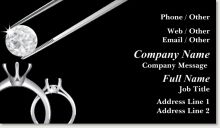 Personalize your own bold Black jeweler Spot Gloss UV Business Cards. Vistaprint is your source to high-quality, affordable retail-sales Spot Gloss UV Business Card Business Thank You Cards, Premium Business Cards, Job Title, Company Names, Marketing, Diamond, Engagement Ring, Brown, Health