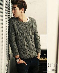 sweaters tejidos hombre coreano - Buscar con Google
