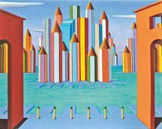 """Sea port"" 2011, olio su tela, 80x100"