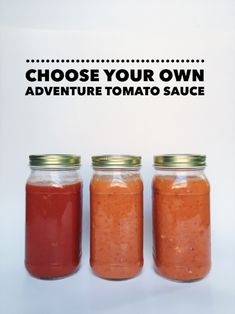Jarred sauce is fine. I have some in my pantry for code red emergencies.  But homemade sauce is better, especially if you have a delicious and stupid  easy recipe to make it.  Which I'm about to give you. Fancy that.  These three sauces are all built on one basic sauce; you're just adding an