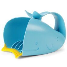 While not altogether necessary, Skip Hop also makes a very cute matching Waterfall Bath Rinser. It won't do much more than a deep Tupperware container or other plastic vessel, it does have the benefit of a rubber lip that is soft on baby's head, and also helps to direct water flow where you want it, even under the squirmiest of conditions.