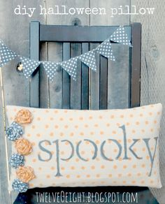 twelveOeight: Polka Dot Halloween Pillow and A Spooky Chalkboard