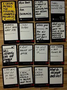 Awesome ideas for black blank cards in cards of humanity or DIY your own deck of cards of humanity game
