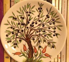 Çini Zeytin Ağacı Tabak  2