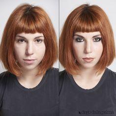 Before & After by #diegodallapalma #vivianaveglia #mua #motd #makeup #beauty