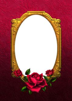 Red and Gold Rose Tansparent Frame Free Frames, Borders And Frames, Borders For Paper, Banner Background Images, Frame Background, Editing Background, Paper Background, Rose Frame, Flower Frame