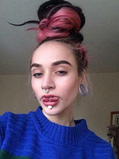 Facial Piercings, Body Modifications, People, Anna, Honey, Characters, Beautiful, Hair, Face Piercings
