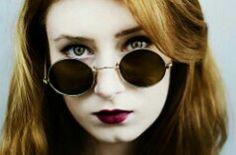 #glasses #redlips #photography #redhair #green #eyes #hipster