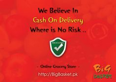 We've a Cash On Delivery option that makes you safe for any online shopping from every fraud .. go to BigBasket.pk/ for grocery shopping #BigBasket #Online #Shopping #CashOnDelivery #Naheed #Hiper #hiperstar #Imtiaz #Chase #Metro #makro #shop #store #supermarket #food #Karachi