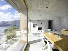 """""""Dieses elegante Haus, in Ranzo, die Schweiz, wird von Wespi de Meuron entworfen."""" http://wohn-designtrend.de/betonhaus-in-ranzo-bei-wespi-de-meuron/#.U34Lg_ldVpv"""