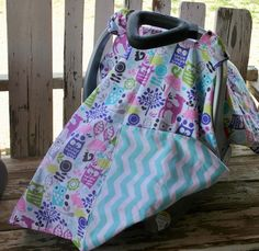 patel owls and other animals with aqua and by SqueakyBugBabies Canopy Cover, Owls, Baby Car Seats, Chevron, Aqua, Children, Animals, Young Children, Water