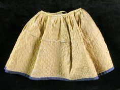 Petticoat  National Trust Inventory Number 814614.9 Category	Costume Date	1740 - 1760 Materials	Silk and wool Measurements	235 mm (L) Place of origin