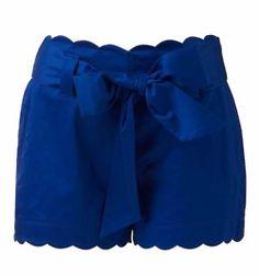 Scalloped shorts