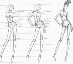 Fashion Illustration Speed Painting with Ink Heading # draw together we are building one of the most popular poses with support on one leg🎨😊 Fashion Design Sketchbook, Fashion Design Drawings, Fashion Sketches, Fashion Illustration Poses, Fashion Illustration Tutorial, Fashion Drawing Tutorial, Fashion Model Drawing, Fashion Figure Drawing, Fashion Figure Templates