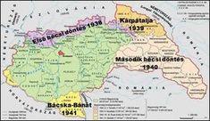 77 éve, 1940. augusztus 30-án született meg a második bécsi döntés   Körkép.sk Crop Circles, Old Maps, Most Beautiful Cities, Historical Maps, Science Projects, Language, Maps, Knowledge, Cartography