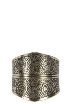 Elouise Floral Engraved Cuff