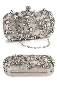 Evening Clutches, Evening Bags, Beaded Clutch, Clutch Bags, Oval Shape, Pearl Beads, Special Events, Purses And Bags, Cocktail