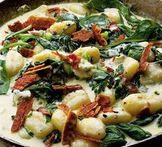 Gnocci with two cheeses & bacon recipe from BBC GoodFood