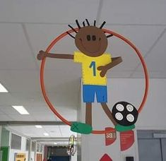 healthy recipes for dinner with kids free Sports Day Decoration, Olympic Idea, Sports Theme Classroom, Kids Castle, Sport Craft, Hanging Mobile, School Decorations, Recycled Art, Crafts For Kids