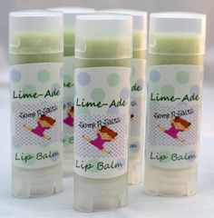 Lip Balm with Nourishing Oils, Lime-Ade Chapstick - pinned by pin4etsy.com