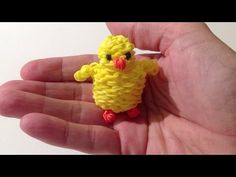 Rainbow Loom Nederlands, 3d kuikentje (3d Easter Chick, original design) - YouTube