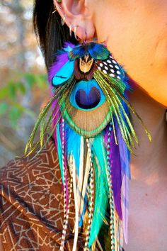 61 ideas exotic dancing wear etsy for 2019 Feather Jewelry, Feather Earrings, Beaded Earrings, Earrings Handmade, Beaded Jewelry, Handmade Jewelry, Jewelry Accessories, Jewelry Design, Diy Accessoires